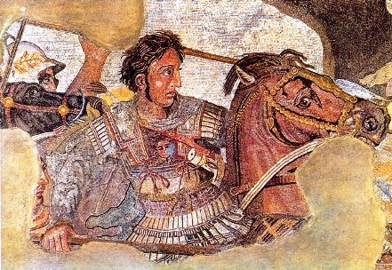 Alexander III of Macedon (fragment of a fresco from Pompeii)